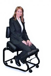 woman sitting on kneelsit-chair