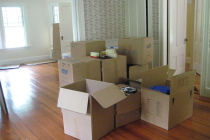Boxes in a room